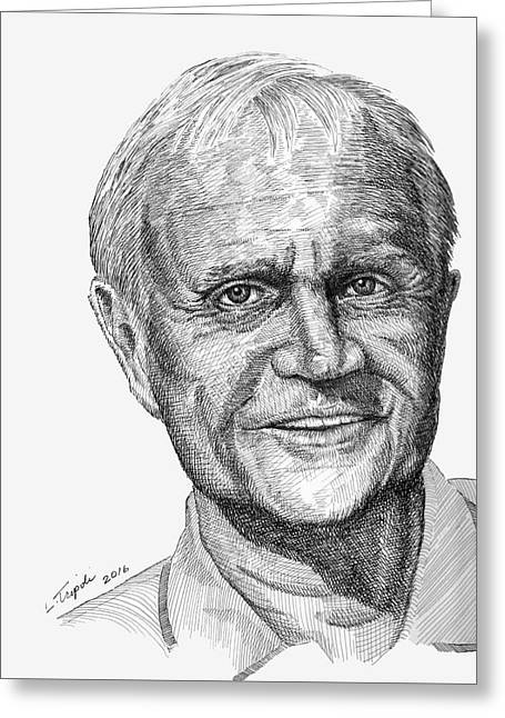 Jack Nicklaus Greeting Card by Lawrence Tripoli