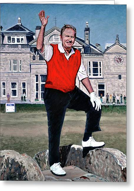Jack Nicklaus Greeting Card by Stan Hamilton