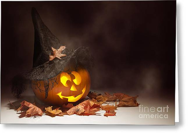 Jack O Lantern Greeting Card by Amanda Elwell