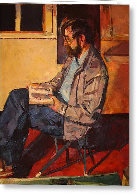 Greeting Card featuring the painting Jack Rogers by Tim  Heimdal