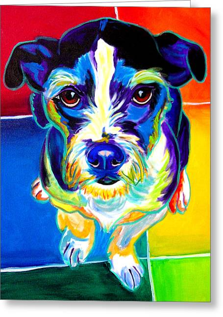 Alicia Vannoy Call Paintings Greeting Cards - Jack Russell - Pistol Pete Greeting Card by Alicia VanNoy Call
