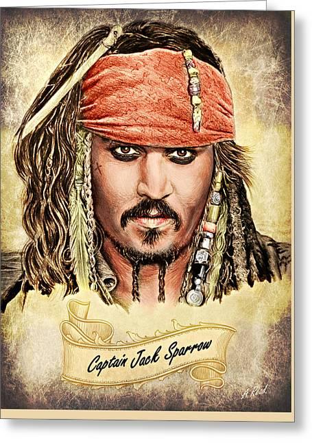 Jack Sparrow Colour 1 Greeting Card