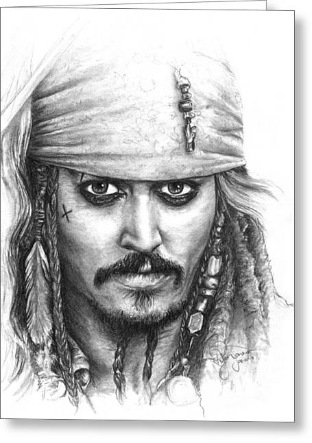 Jack Sparrow Greeting Card by Ryan Jones