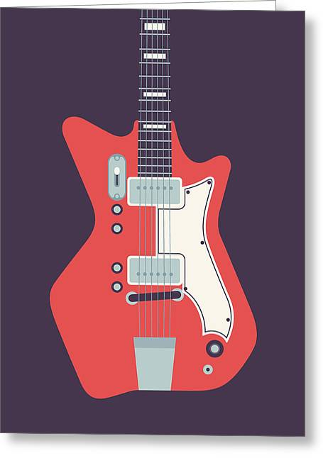Jack White Jb Hutto Montgomery Ward Airline Guitar - Black Greeting Card by Ivan Krpan