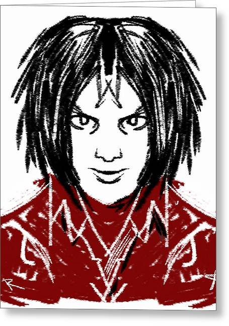 The White Stripes Greeting Cards - Jack White Greeting Card by Russell Pierce