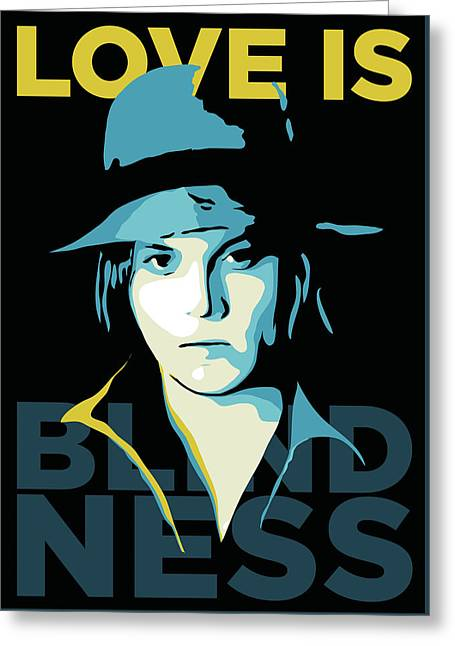 Jack White Greeting Card by Greatom London