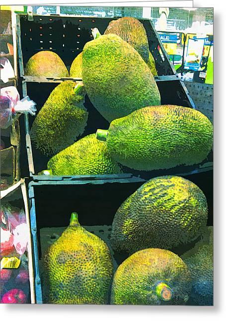 Jackfruit Gluten Free Health Food  Greeting Card by PixBreak Art