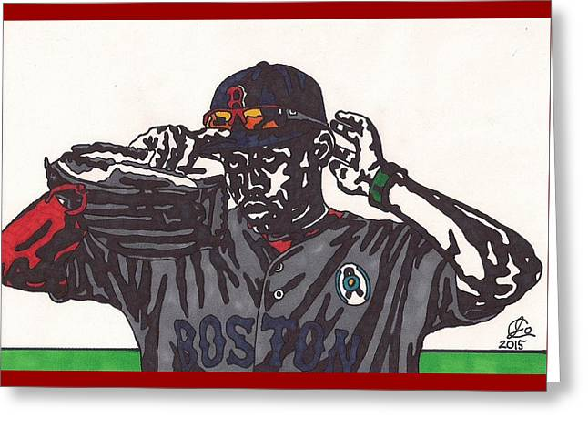 Jackie Bradley Jr Greeting Card by Jeremiah Colley