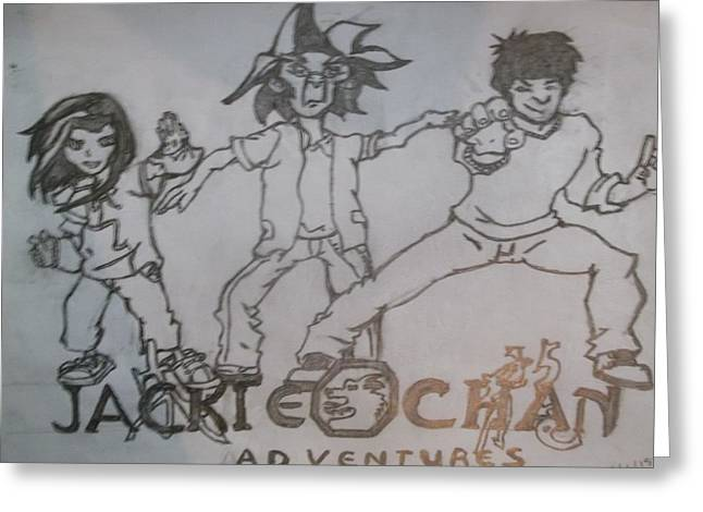 Jackie Chan Adventures Greeting Card