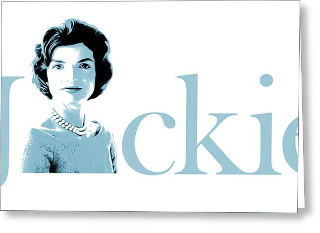 Jackie Greeting Card by Greg Joens