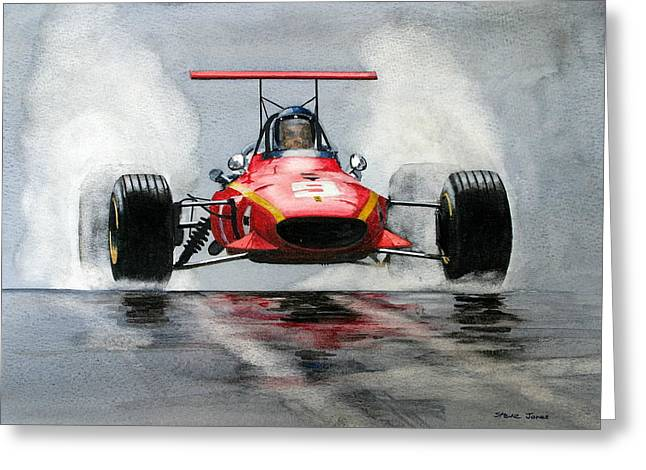 Jackie Ickx  Ferrari  F1 Greeting Card