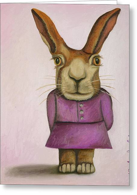 Jackie Greeting Card by Leah Saulnier The Painting Maniac