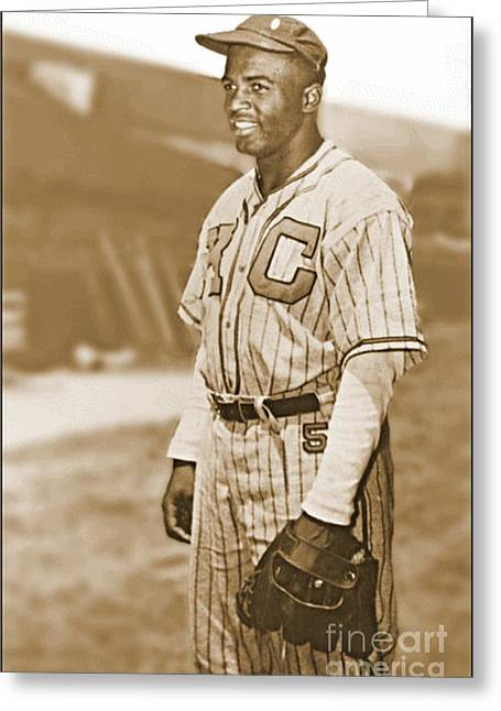 Jackie Robinson Greeting Card by Pd