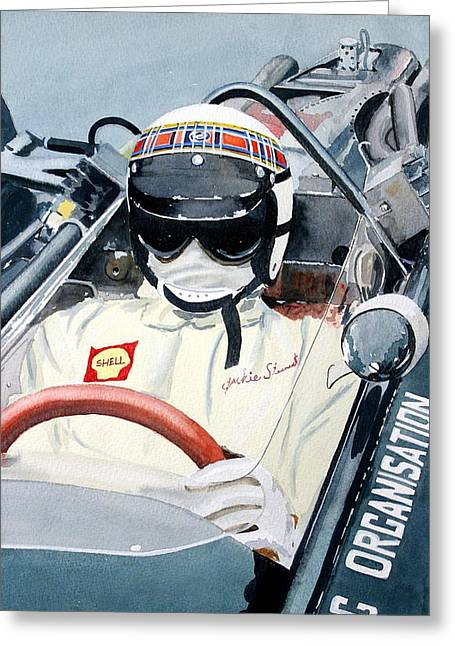 Jackie Stewart Brm Greeting Card