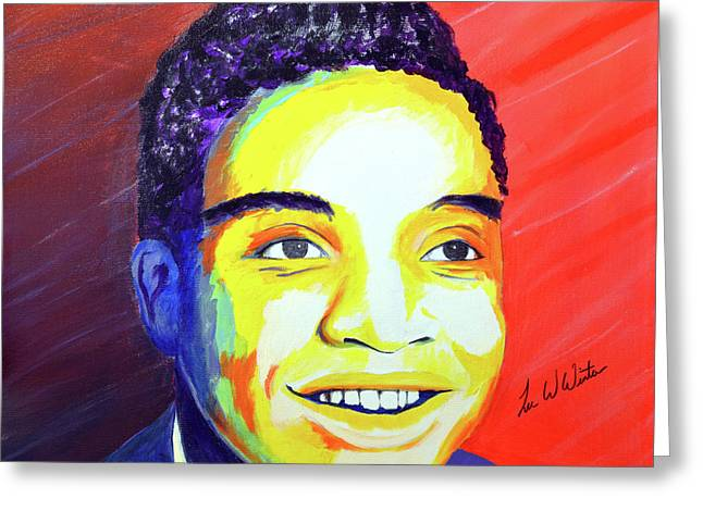 Jackie Wilson Greeting Card