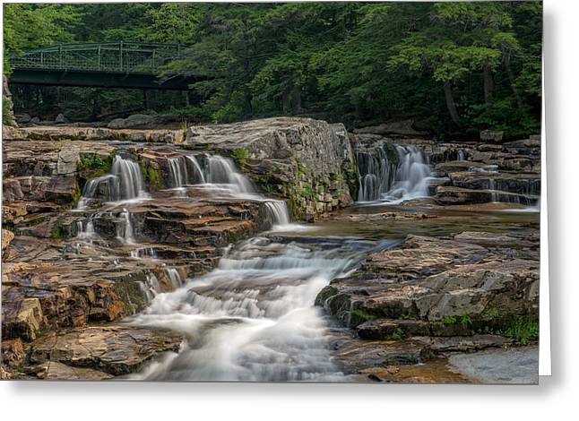 Greeting Card featuring the photograph Jackson Falls by Cindy Lark Hartman