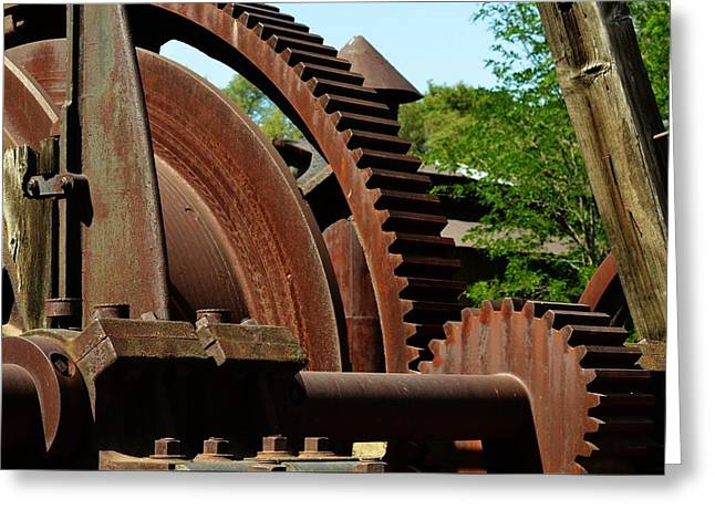 Jackson Gears 2 Greeting Card by Nancy Manning