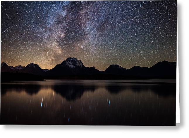 Jackson Lake Milky Way Greeting Card by Darren White
