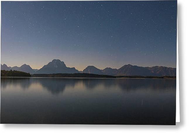 Jackson Lake Moon Greeting Card by Darren White