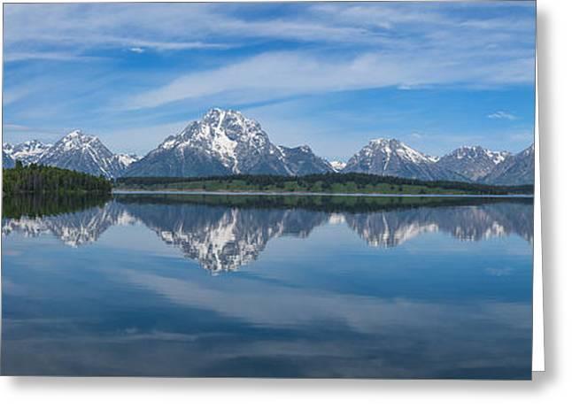 Jackson Lake Panorama Greeting Card