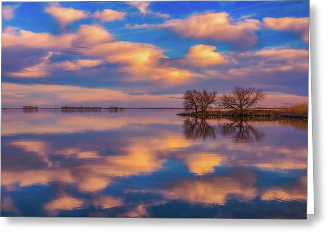 Greeting Card featuring the photograph Jackson Lake Sunset by Darren White