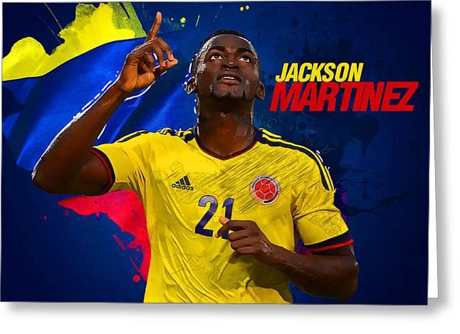 Jackson Martinez Greeting Card by Semih Yurdabak