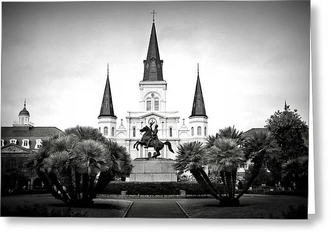 Best Sellers -  - Historic Statue Greeting Cards - Jackson Square 2 Greeting Card by Perry Webster