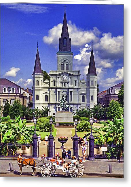 Jackson Square Greeting Card by Dennis Cox WorldViews