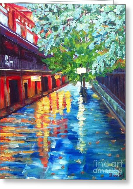 Jackson Square Reflections Greeting Card