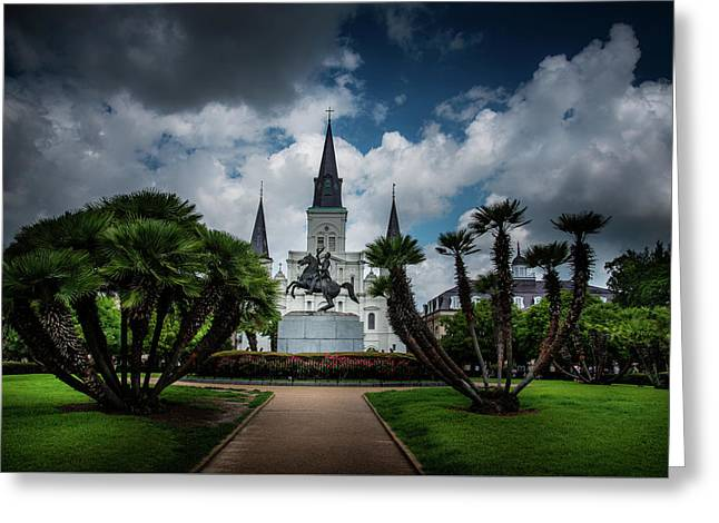 Jackson Square Sunrise Greeting Card