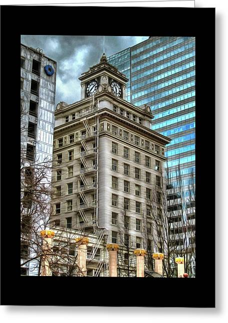 Jackson Tower Portland Oregon Greeting Card