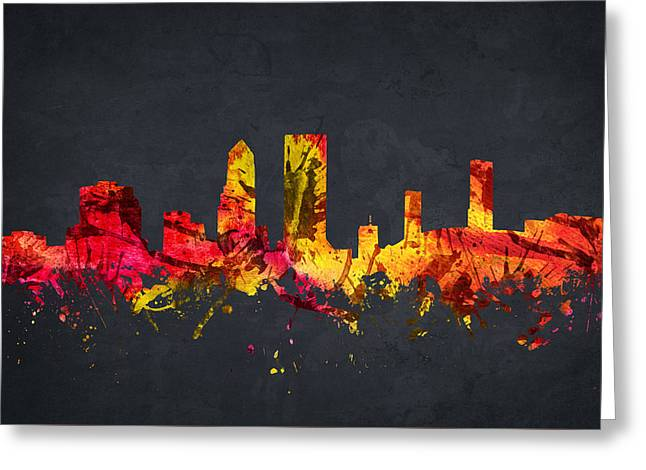 Jacksonville Cityscape 07 Greeting Card by Aged Pixel