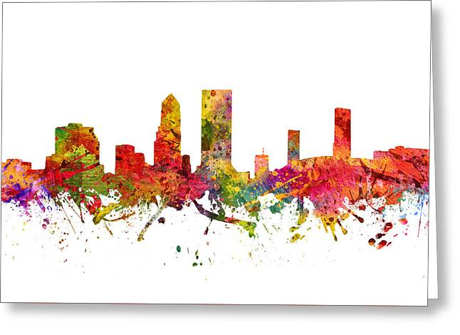 Jacksonville Cityscape 08 Greeting Card by Aged Pixel