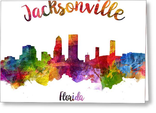 Jacksonville Florida 23 Greeting Card by Aged Pixel