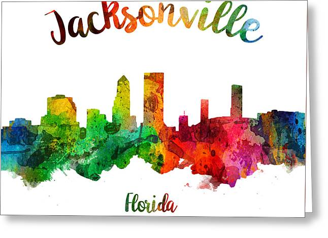 Jacksonville Florida 24 Greeting Card by Aged Pixel
