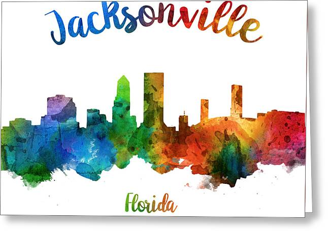 Jacksonville Florida 25 Greeting Card by Aged Pixel