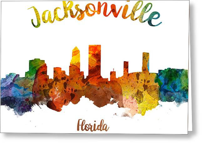 Jacksonville Florida 26 Greeting Card by Aged Pixel