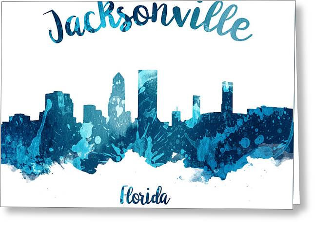 Jacksonville Florida 27 Greeting Card by Aged Pixel