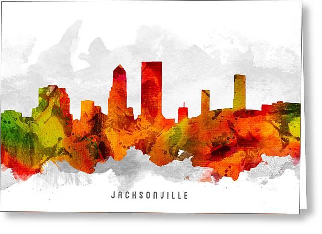 Jacksonville Florida Cityscape 15 Greeting Card