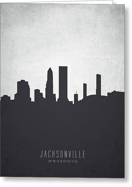 Jacksonville Florida Cityscape 19 Greeting Card by Aged Pixel