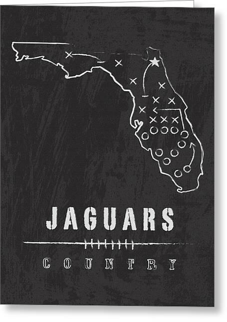 Jacksonville Jaguars Art - Nfl Football Wall Print Greeting Card by Damon Gray