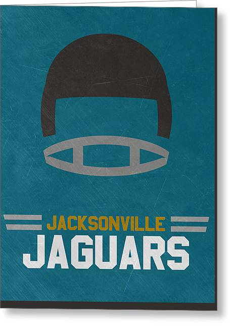 Jacksonville Jaguars Vintage Art Greeting Card by Joe Hamilton