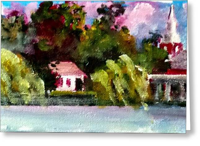 Jacksonville Nc Waterfront Greeting Card by Jim Phillips