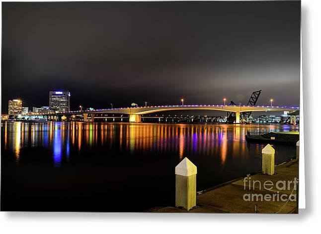 Jacksonville Night Sky Greeting Card