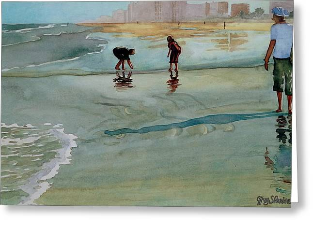 Jacksonville Shell Hunt Greeting Card