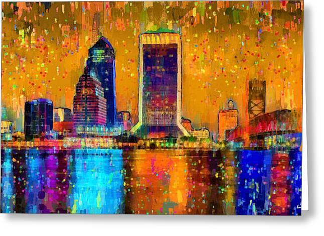Jacksonville Skyline 104 - Da Greeting Card
