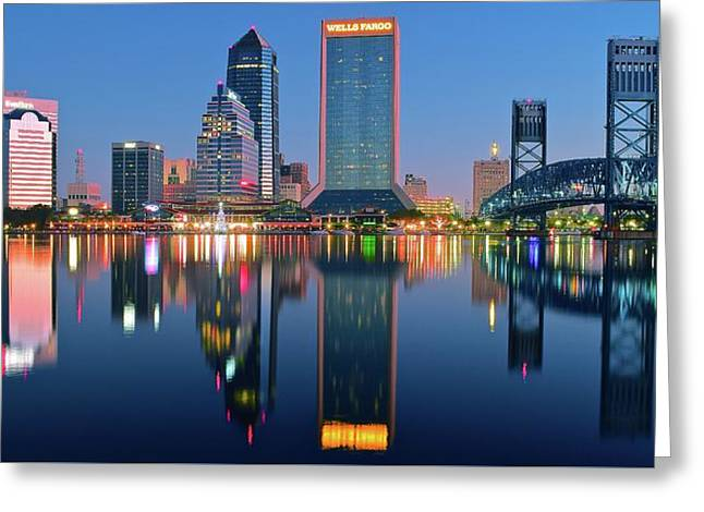 Jacksonville Two Times Greeting Card by Frozen in Time Fine Art Photography