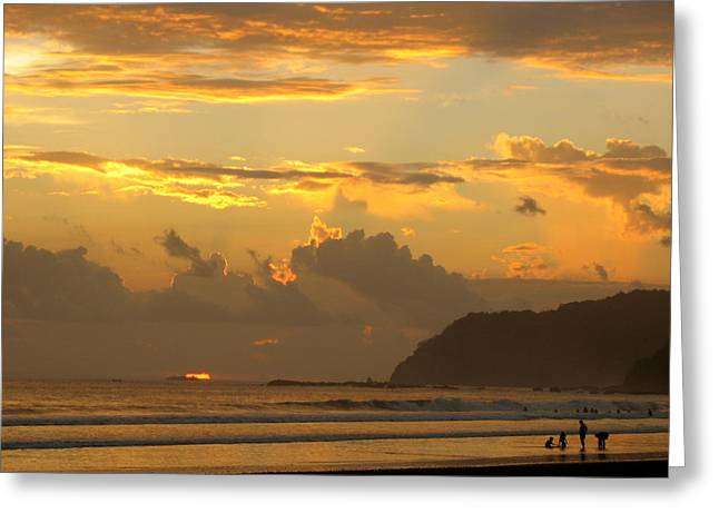 Jaco Sunset Greeting Card by Daniel  Taylor