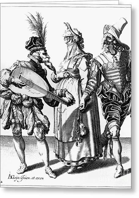 Jacob De Gheyn: The Masks Greeting Card by Granger