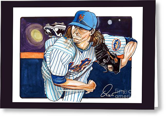 Jacob Degrom Of The New York Mets Greeting Card by Dave Olsen